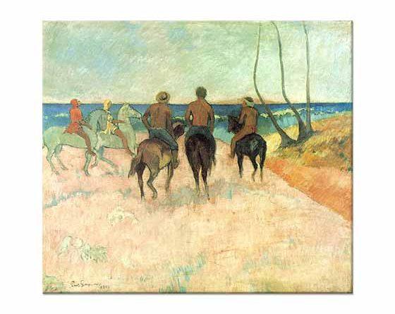 Paul Gauguin Sahilde Atlılar