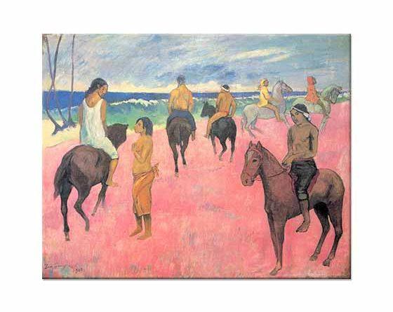 Paul Gauguin Sahilde Atlılar ile