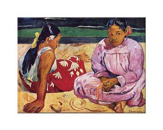 Paul Gauguin Sahilde Tahitili Kadınlar