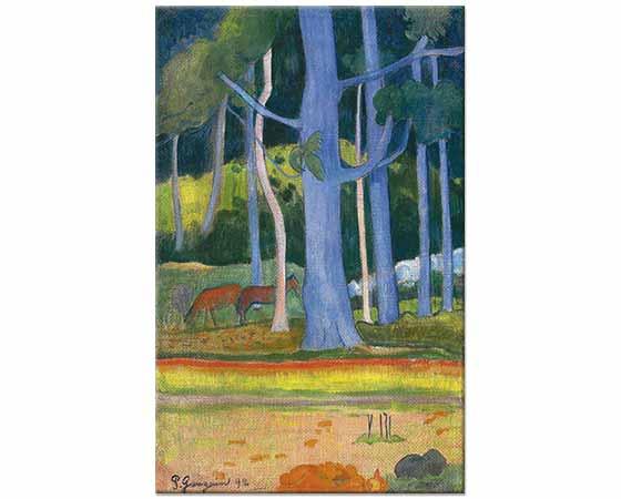 Paul Gauguin Tahiti Manzarası