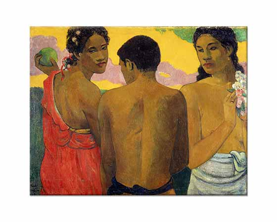 Paul Gauguin Tahiti'de Sohbet