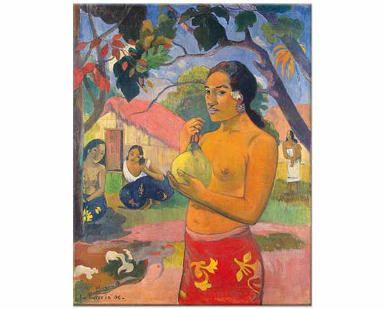 Paul Gauguin Tahitili Kadın Meyve ile