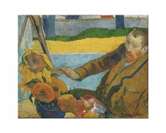 Paul Gauguin Van Gogh Ayçiçekleri Çalışırken
