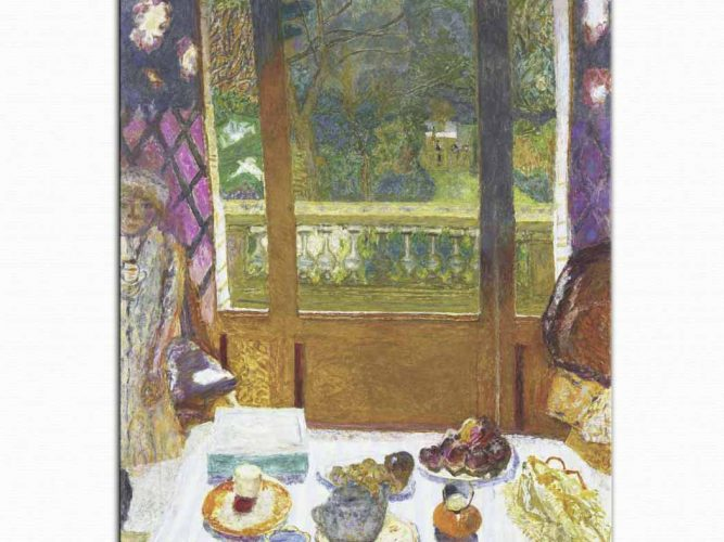 Pierre Bonnard Bahçeye Bakan Oturma Odası