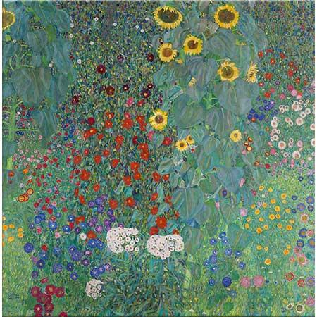 Gustav Klimt Bahçede Ayçiçekleri
