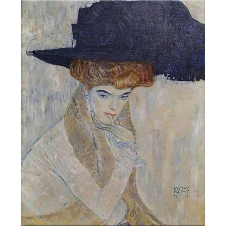 Gustav Klimt Siyah Şapka
