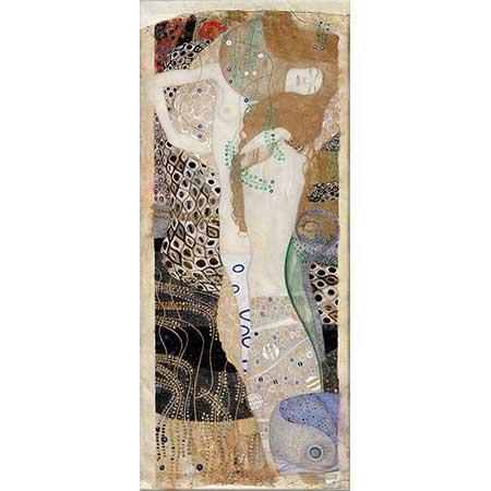 Gustav Klimt Su Yılanı ile