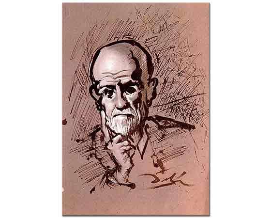 Salvador Dali Freud'un Portresi