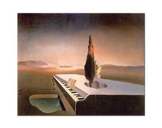 Salvador Dali Nekrofil Baharın Grand Piyanodan Akışı