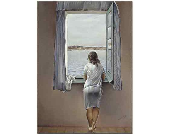 Salvador Dali Penceredeki Kadın