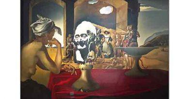 Salvador Dali Volter'in Görünmez Büstü ile Köle Pazarı