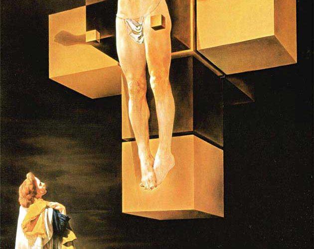Salvador Dali Çarmıhta Isa tablosu