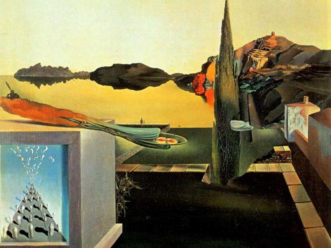 Salvador Dali Anlık Hatıraları Gösteren Sürrealist Obje