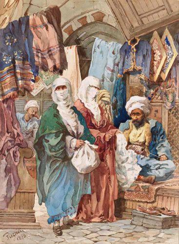 Amadeo Preziosi ipek pazarı