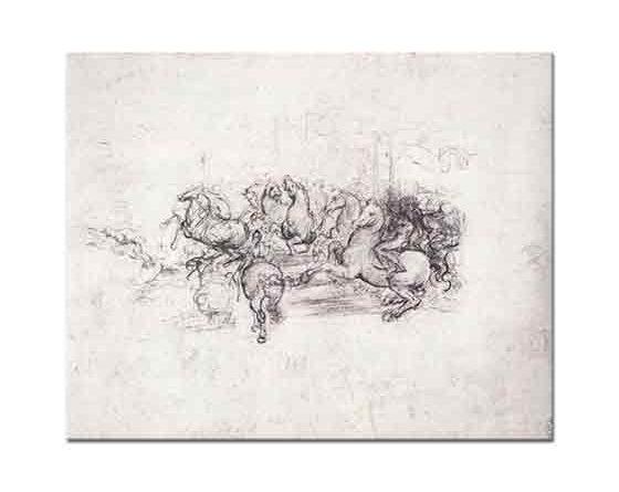 Leonardo Da Vinci Anghiari Savaş Süvarileri