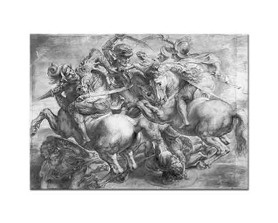 Leonardo Da Vinci Anghiari Savaşı Detay