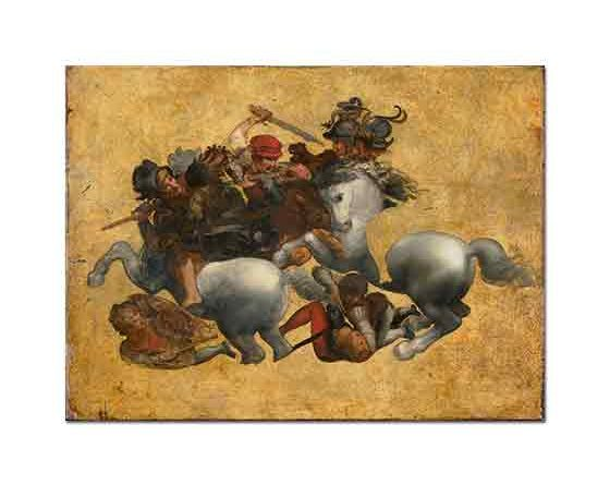 Leonardo Da Vinci Anghiari Savaşı etüd
