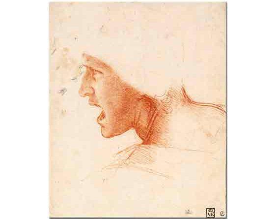 Leonardo Da Vinci Asker Kafası Eskizi