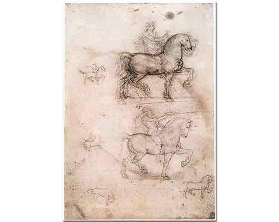 Leonardo Da Vinci At Heykel Eskizi