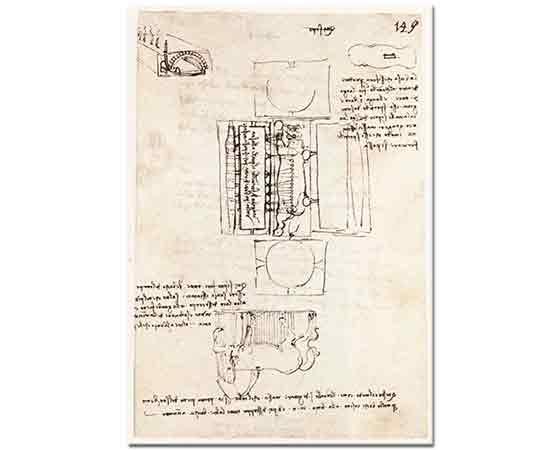 Leonardo Da Vinci At Heykeli Çalışması