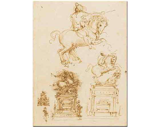 Leonardo Da Vinci Atlı Trivulzio Anıtı Eskizi