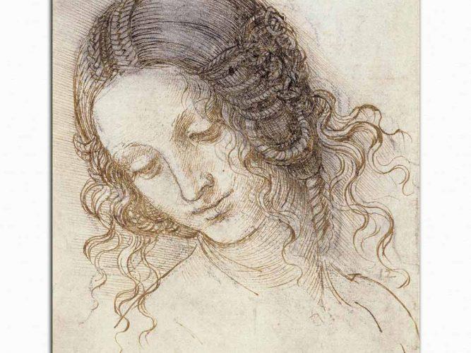 Leonardo Da Vinci Baş Etüdü Deseni