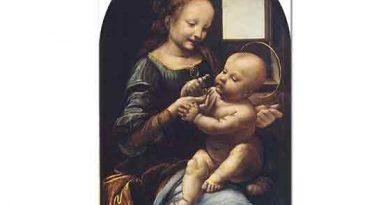 Leonardo Da Vinci Çiçeklerle Meryem