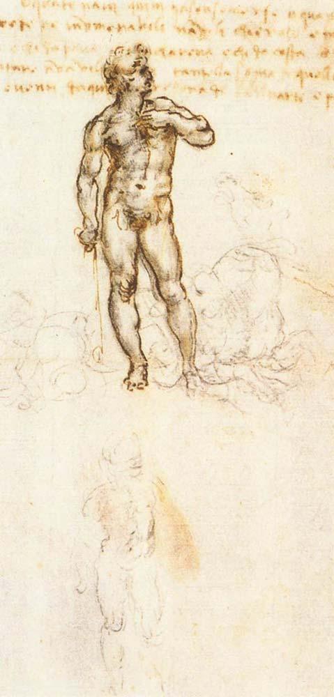 Leonardo Da Vinci Davud Eskizi (Mikelanj)