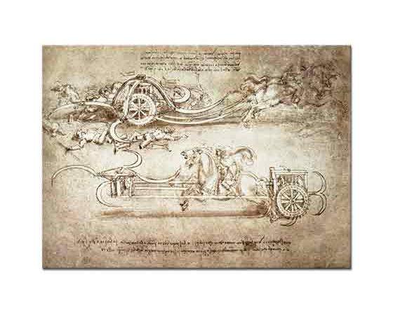 Leonardo Da Vinci Döner Tırpanlı Savaş Arabası
