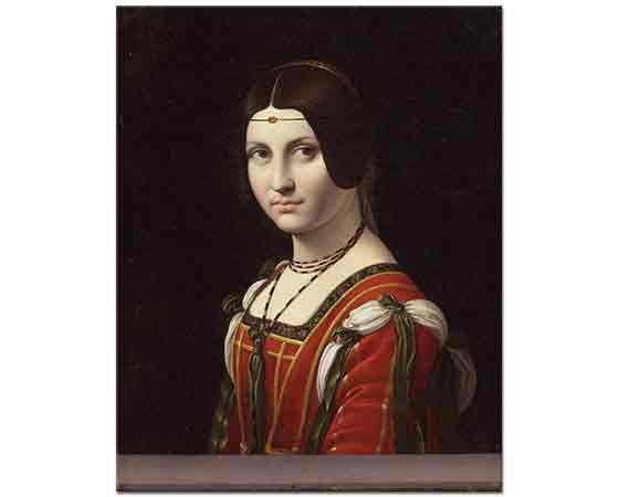 Leonardo Da Vinci Genç Kadın Resmi