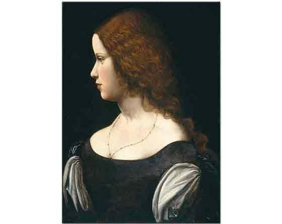 Leonardo Da Vinci Genç Kadının Portresi