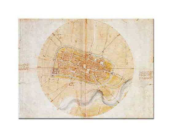 Leonardo Da Vinci Imola Kentinin Planı
