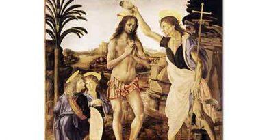 Leonardo Da Vinci Isa'nın Vaftiz Edilmesi