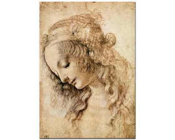 Leonardo Da Vinci Kadın Başı Eskizi