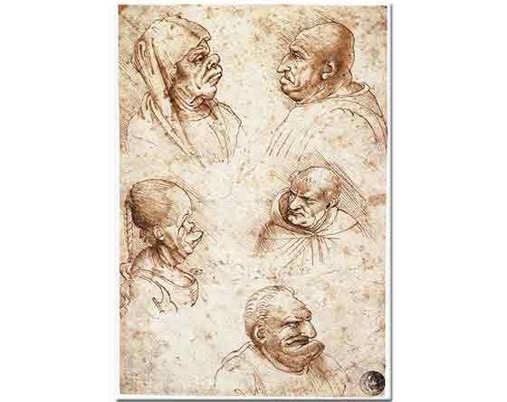 Leonardo Da Vinci Karikatür Çalışmaları