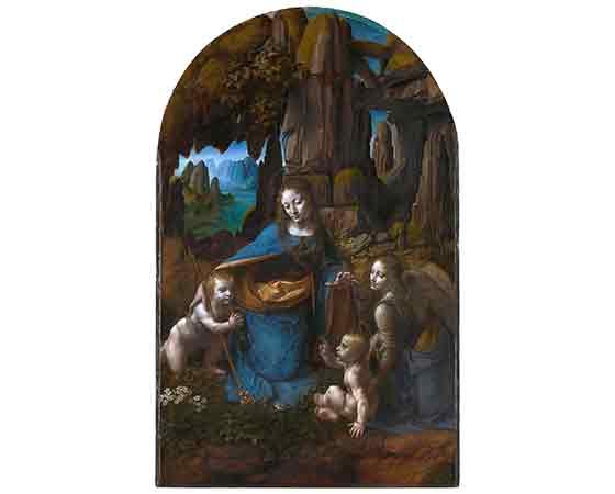 Leonardo Da Vinci Kayalıkların Bakiresi