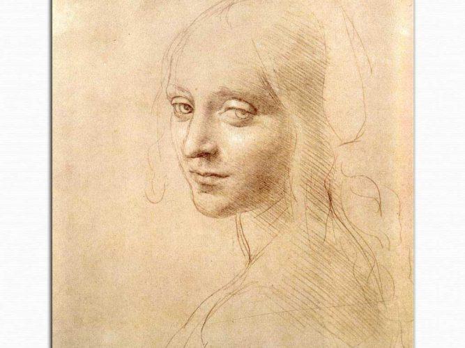 Leonardo Da Vinci Kız Başı Eskizi