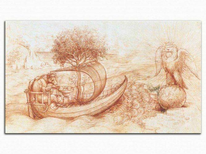 Leonardo Da Vinci Kurt ve Kartallı Alegori