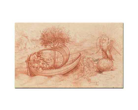 Leonardo Da Vinci Kurt ve Kartallı Allegori