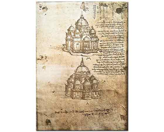 Leonardo Da Vinci Merkezi Planlı Yapıların Etüdü