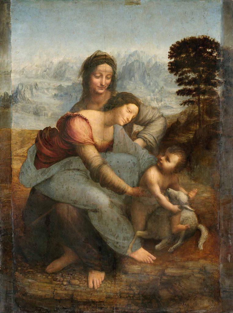 Leonardo Da Vinci Meryem Çocuk Isa ve Anna