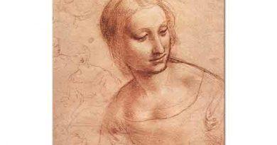Leonardo Da Vinci Meryem Eskizi etüd