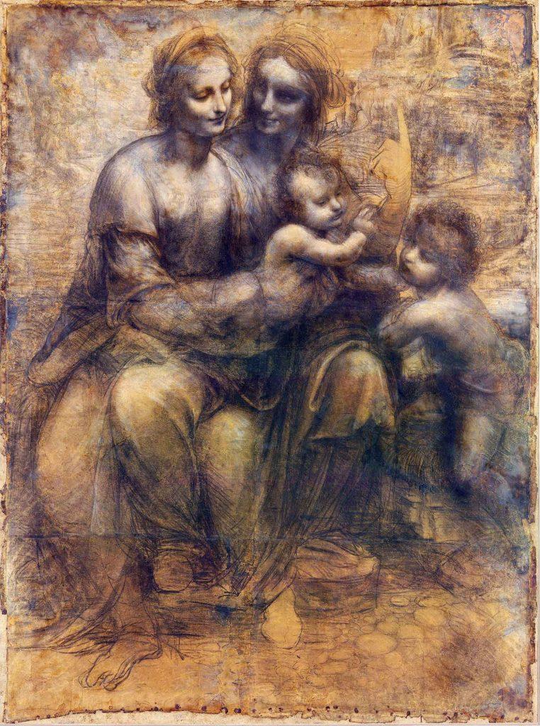 Leonardo Da Vinci Meryem ve Anna ve Çocuk Yahya