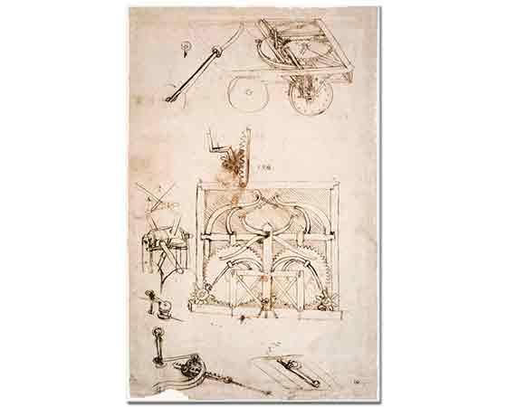Leonardo Da Vinci Otomobil Eskizi