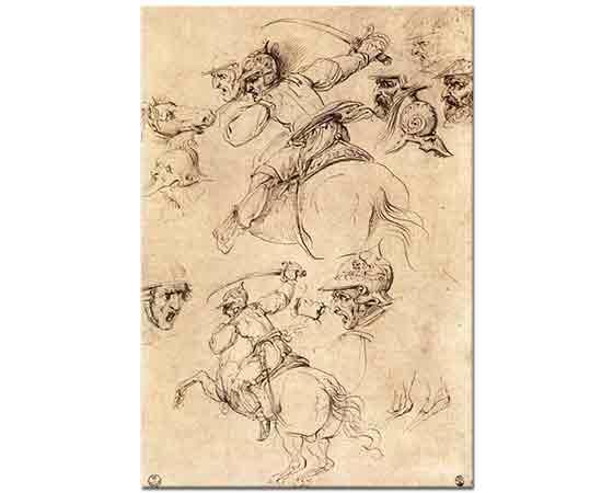 Leonardo Da Vinci Savaş ve At Eskizleri