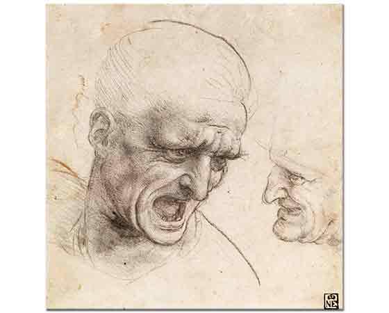 Leonardo Da Vinci Savaşçı Başı Etüdü