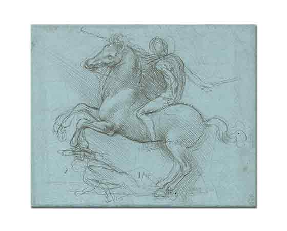 Leonardo Da Vinci Sforza Anıtı ( Eskiz)