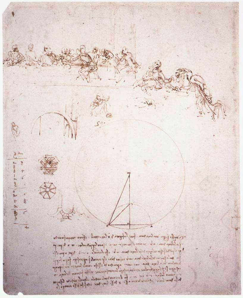 Leonardo Da Vinci Son Akşam Yemeği Eskiz