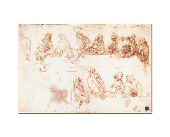 Leonardo Da Vinci Son Akşam Yemeği Eskizleri