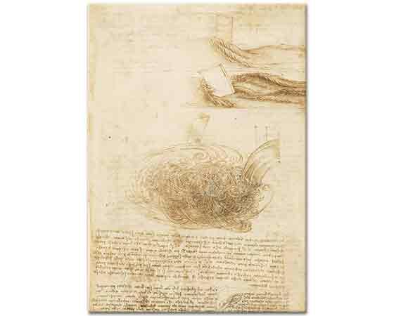 Leonardo Da Vinci Su Eskizleri etüdü